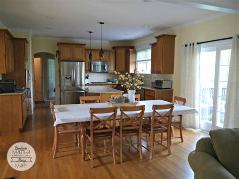 Family Room Kitchen by New Home Tour Family Room And Kitchen Sometimes Martha