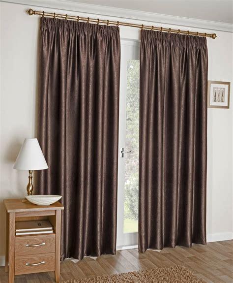 chocolate curtain amari chocolate brown pencil pleat curtains net curtain