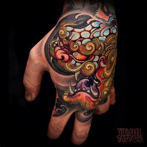 japanese tattoo on hand 17 best images about foo dogs on pinterest buddhists