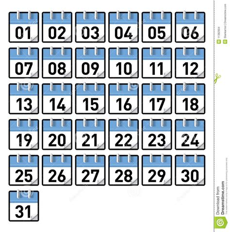 What Calendar Day Is It Calendar Days Stock Images Image 11382904