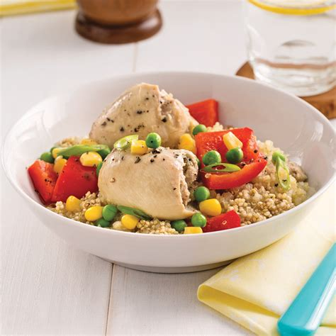 cuisine et mijot駸 mijot 233 de quinoa au poulet et aux l 233 gumes recettes