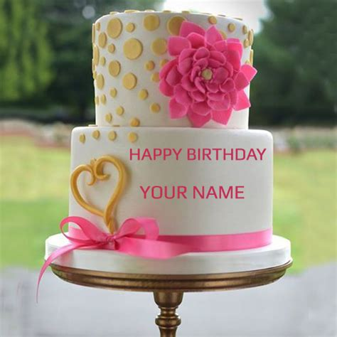 Wedding Cake With Name by Write Your Name On Pink Wedding Cake Pic Wishes