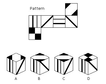 pattern folding practice questions spatial ability tests cubes