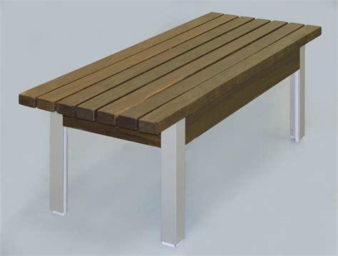ipe wood bench 48 quot x 21 quot x 18 quot h ipe wood and aluminum bench a perfect