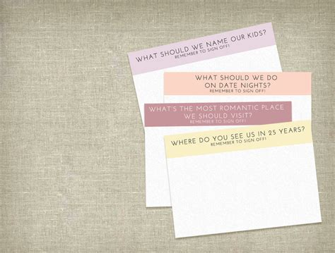 Wedding Advice Cards Printable by The Wedding Scoop
