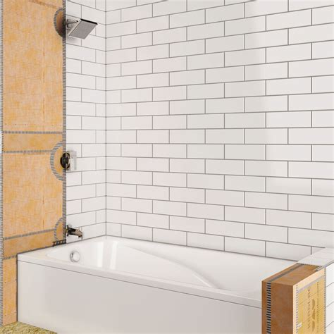 tile tub surround custom poured shower pan first shower with bathtub schluter com
