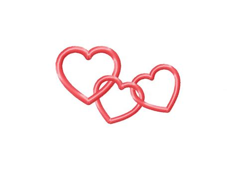 How To Make A Chain Of Hearts Out Of Paper - chain machine embroidery design