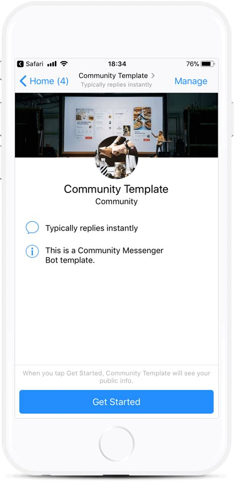 Community Messenger Bot For 229 Botmakers Chatbot Template