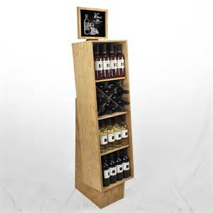 retail craft beer display racks wooden wine crate displays
