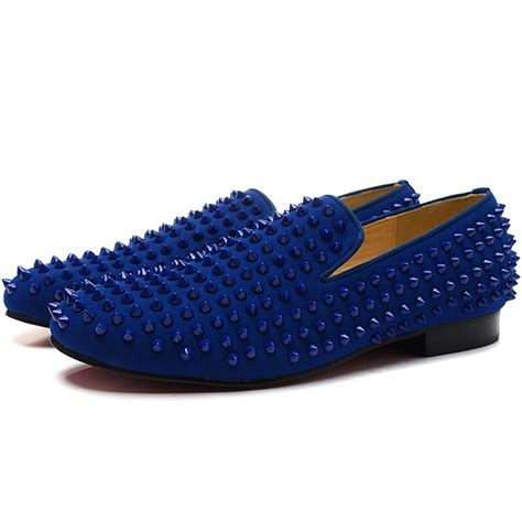 loafers with spikes 2015 new fashion mens shoes casual bottom shoes for