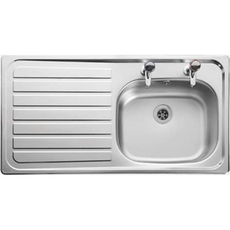 Leisure Kitchen Sink Spares | leisure lexin 950 x 508 drainer inset sink 2 tap hole left
