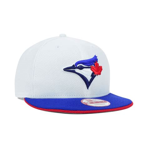 Topi New Era Original Mlb Toronto Blue Jays Fitted Size 714 ktz toronto blue jays mlb white era 9fifty snapback cap in white for lyst