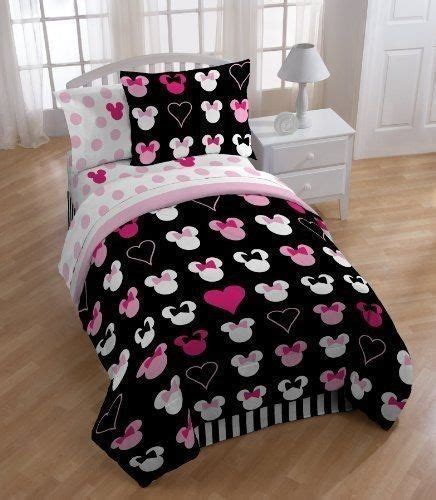 minnie mouse twin bedding disney minnie mouse reversible twin comforter set w sham