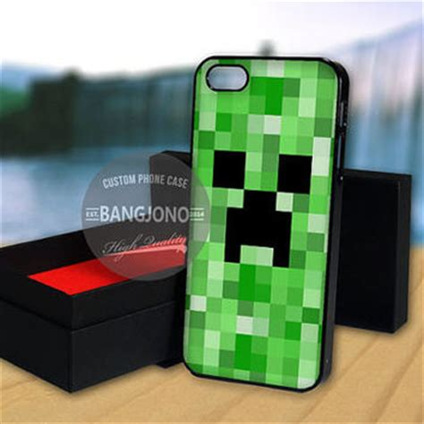 Minecraft Creeper Iphone 4 4s 5 5s 5c 6 6s Plus minecraft creeper for note 2 3 ipod from bangjono on etsy