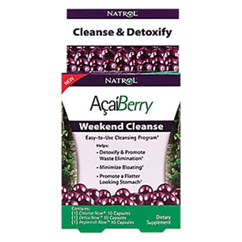 Weekend Detox by Acaiberry Weekend Cleanse 30 Capsules By Natrol At The