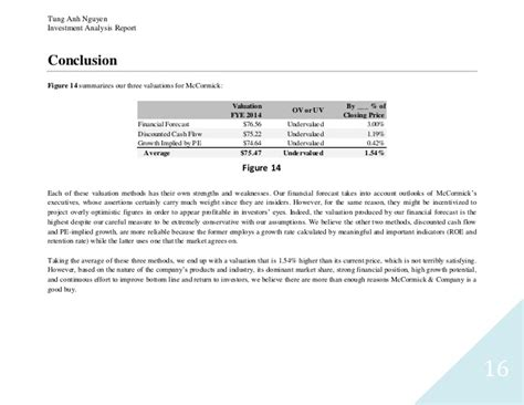investment report template how to write an investment analysis report
