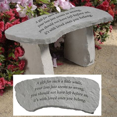 memorial garden benches stone design toscano a gift cast stone memorial garden bench at