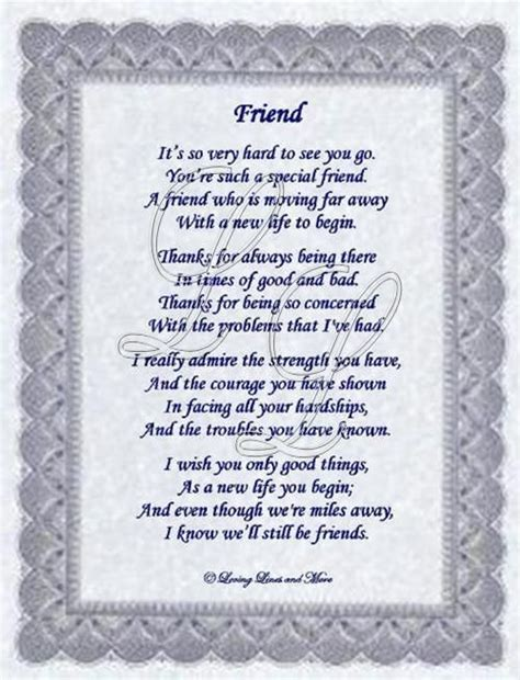 Best Friend Moving Away Poem   Friend poem is for that