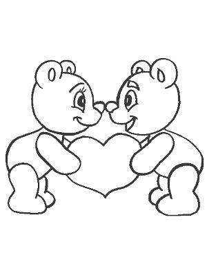 imagenes de amor para dibujar a blanco y negro dos osos enamorados