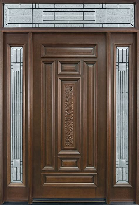 Front Door Design by Entry Door In Stock Single With 2 Sidelites Solid Wood