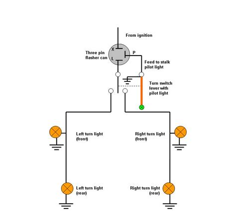 Dijamin Switch L 2 Led Emergency L how to wire a turn signal flasher bentrider forums