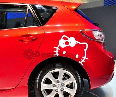 Aufkleber Fürs Auto Hello Kitty by Hello Kitty Graphic Car Window Door Decal Sticker In
