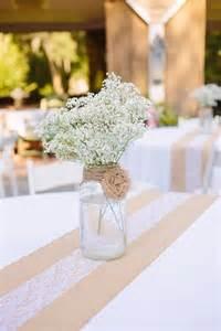 Burlap And Lace Table Runner 9 Mason Jar Wedding Centerpiece Ideas Temple Square