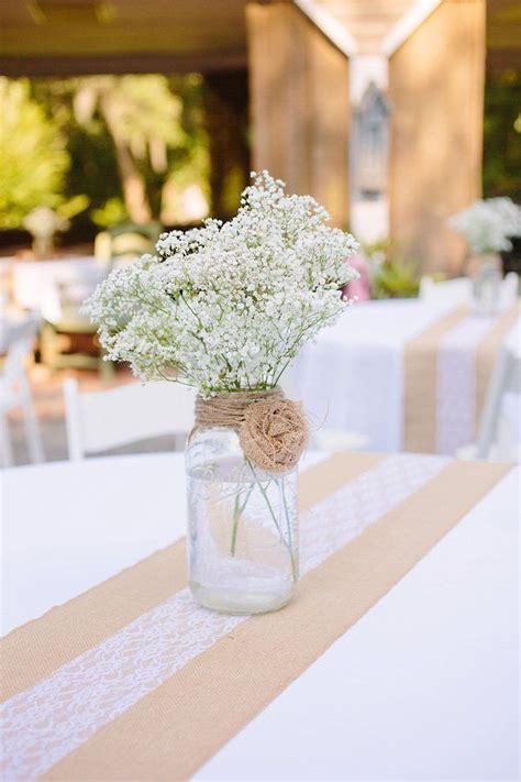 burlap and lace centerpieces 9 jar wedding centerpiece ideas temple square