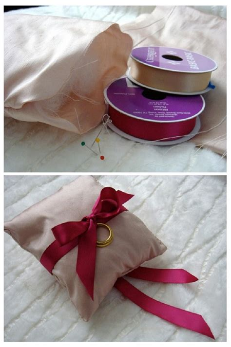 top 10 diy tutorials for your own wedding ring pillows
