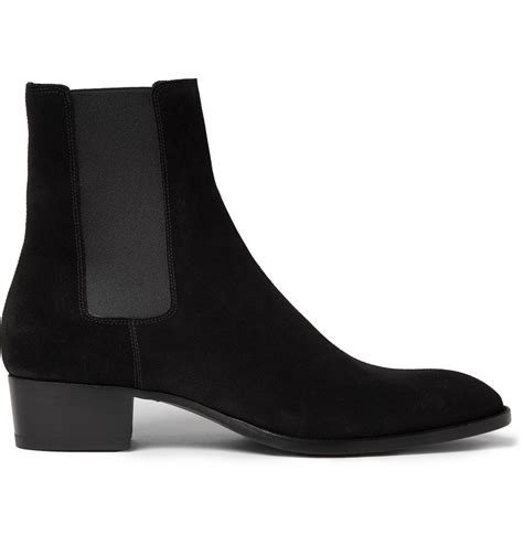 laurent mens chelsea boots laurent suede chelsea boots in black for lyst