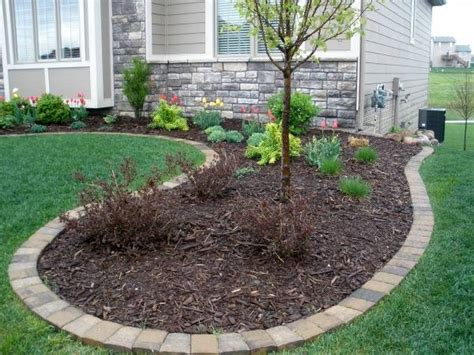 Landscape Edging With Pavers Edging Mulch Drainage Solutions Des Moines Iowa