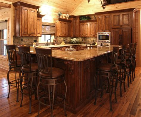 rustic cabin kitchen cabinets rustic cabin style traditional kitchen charlotte