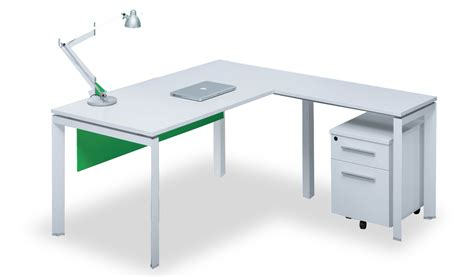 Office Table L Compact L Shaped Office Table In White S Cabin