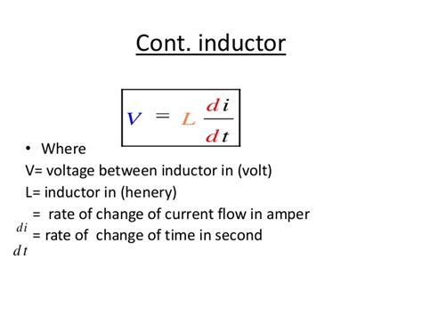 inductor current rate of change step