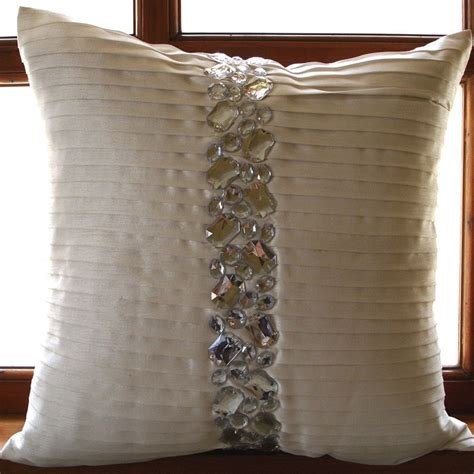 decorative pillow luxury white decorative pillows cover 16x16 silk