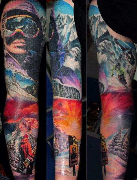 skiing tattoos 17 best ideas about snowboarding on