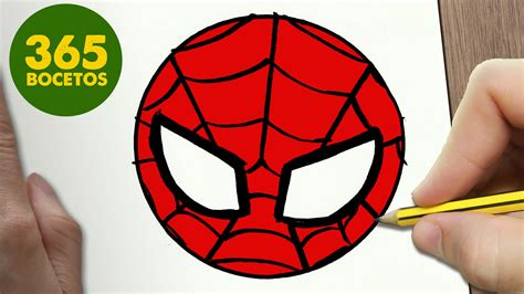 imagenes de spiderman para dibujar faciles como dibujar spiderman emoticonos whatsapp kawaii paso a