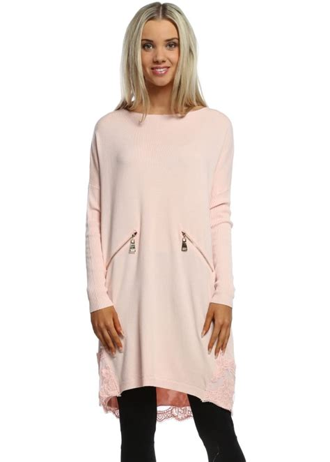 Leticia Tunic laetitia mem pink jumper laetitia mem pink lace tunic jumper