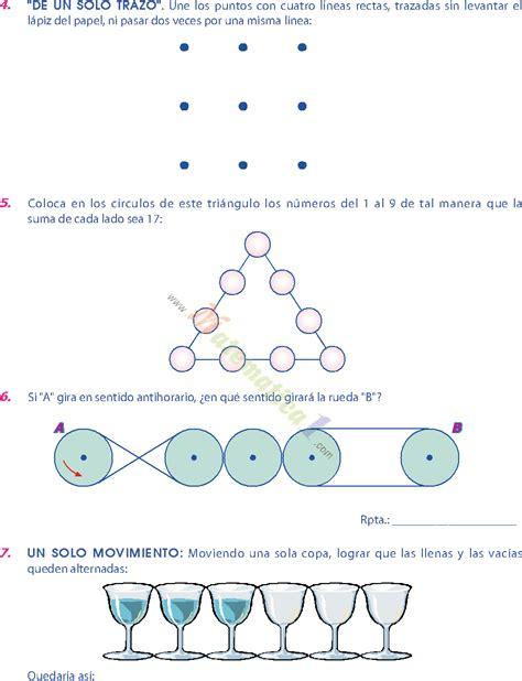 imagenes de habilidades matematicas matematica recreativa ejercicios de sexto de primaria pdf