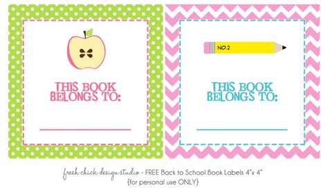 My Classroom Setup School Book Labels Template