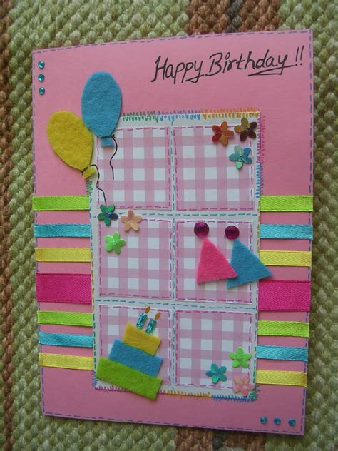 Homemade Greeting Cards Make Your Own - 10 pretty and bright birthday cards that you can make yourself happy birthday wishes