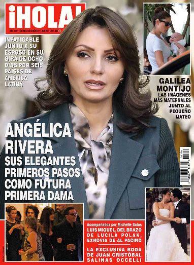 imagenes revista hola angelica rivera ang 233 lica rivera elegante rumbo a ser la primera dama de