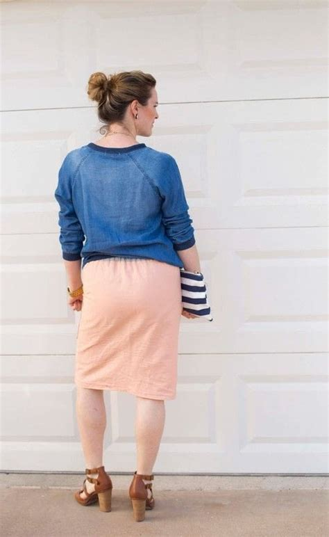 Flat Front Skirt flat front elastic waist pencil skirt 183 how to make a