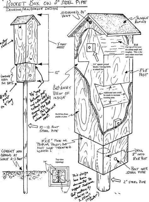 Bat House Rocket Box Small House Plans With Bat