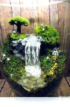 small indoor fountains  waterfalls fairy garden diy