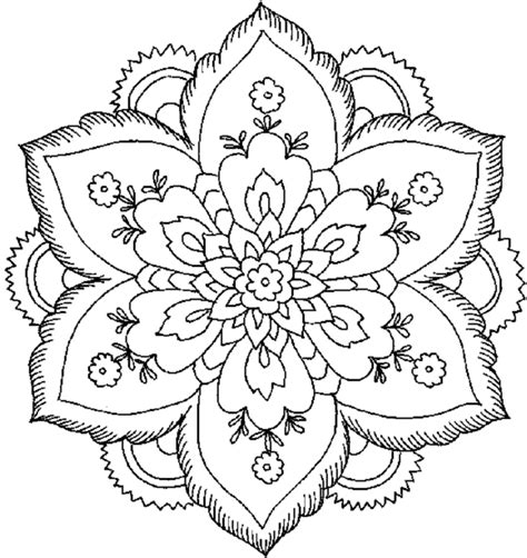 colouring pages detailed flower colouring pages coloring pages enchanting flowers coloring pages for