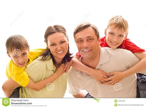 with children parents with their two children royalty free stock