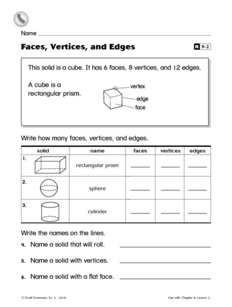 printable math worksheets faces edges and vertices number names worksheets 187 sides and vertices worksheets