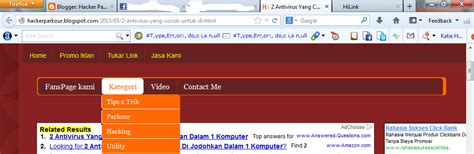 membuat menu drop down joomla 3 0 cara membuat menu drop down sekaligus memasukkan postingan