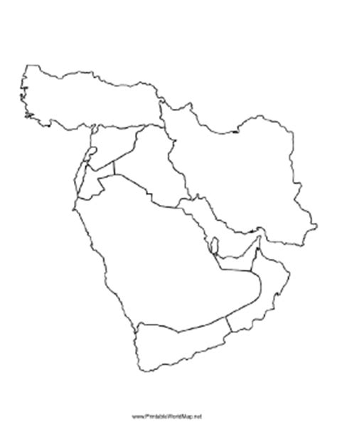 blank map of the middle east blank map of middle east free printable maps
